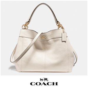 Coach Small Lexy Shoulder Bag in Chalk & Gold EUC